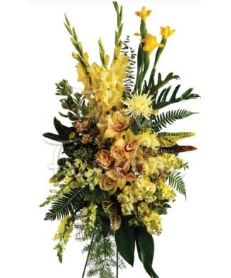 cuscino_lutto_orchidee_fiori_gialli