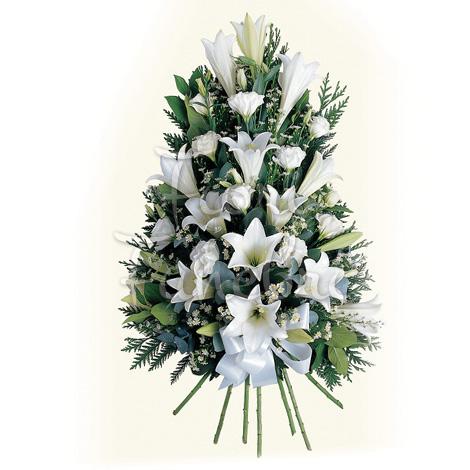 Favorito Composizione funebre di gigli bianchi - Fiori Funerale FC01