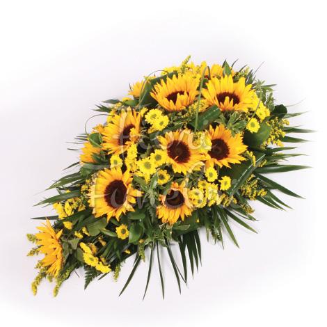 Molto Composizione funebre di girasoli - Fiori Funerale WJ36