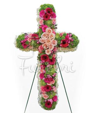 croce-gerbere-toni-caldi-rose-rosa