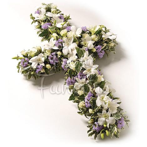 croce-gigli-bianchi-fiori-misti
