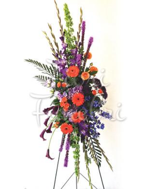 cuscino-lutto-gerbere-arancio-fiori-viola